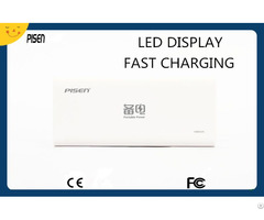 Fast Charging Pisen Portable Charger Power Bank 10000mah For Mobile Phones Tablet Ce Fcc Certificate
