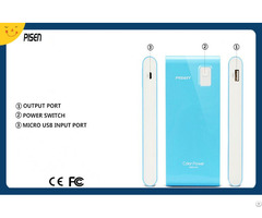 Pisen Multicolor Slim Power Bank 9600mah External Battery Charger Ce Fcc Certificate