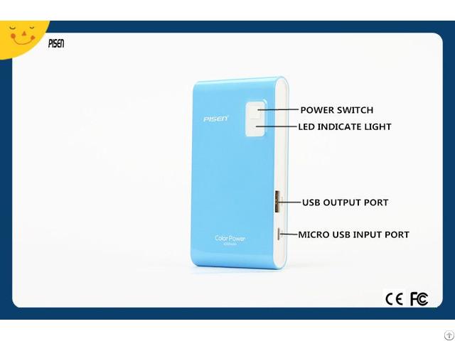 Pisen Slim Power Bank 4200mah External Battery Charger For Mobile Phone Ce Fcc Certificate