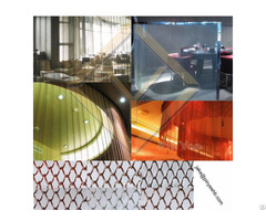 Interior Decorative Coil Mesh Curtain Drapery
