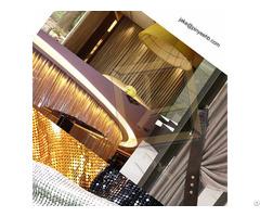 Colorful Aluminum Sequin Metallic Fabric Curtain Cloth