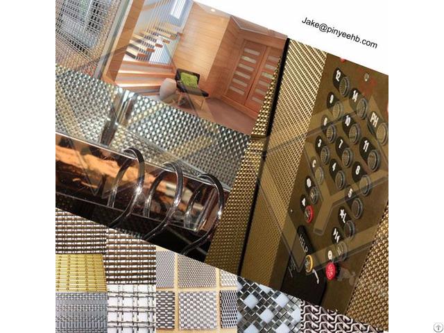 Facade Elevator Decor Crimped Wire Mesh Panel