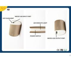 Sales Promotion Fast Charging Led Flashlight Pisen Power Bank 5000mah External Battery Charger