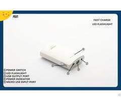 Led Flashlight Pisen Power Bank 9000mah For Mobile Phone