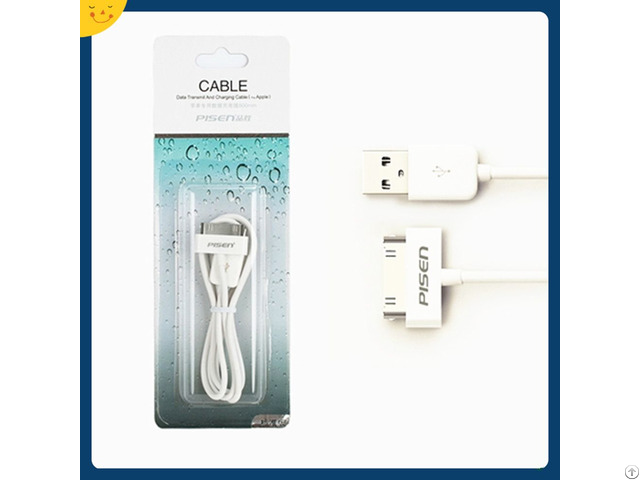 Pisen 800mm 1500mm Charging Data Cable For Iphone 4 4s