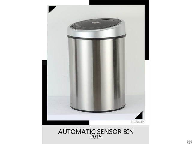 Household Waste Bin Stainless Steel Touchless Infrared 40l Gyt40 4b S