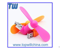 Otg Gadgets Mini Usb Fan Strong Soft Wind