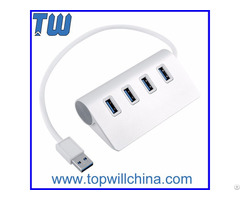 High Quality Al Alloy 4 Ports Usb 3 0 Hub True Speed Product