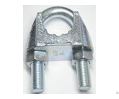 Din 741 Malleable Wire Rope Clips With Groove Zinc Plated