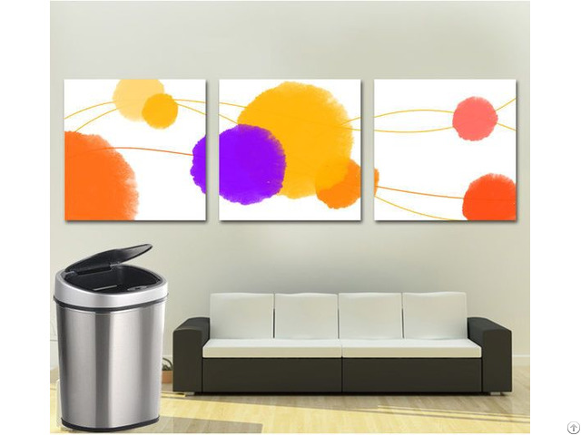 30l Metal Automatic Trash Can Touchless Sensor Rubbish Bin Gyt30 1b S
