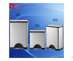 30l Slow Closing Fashional Square Foot Pedal Garbage Bin Jc30 A