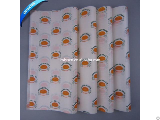 Hamburger Wrapper Greaseproof Paper