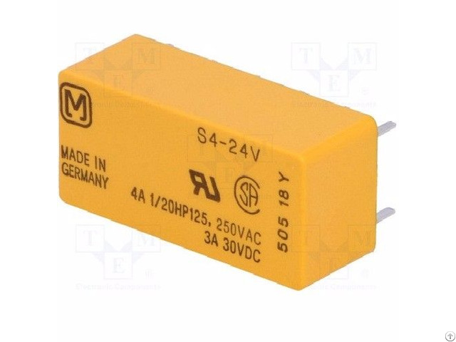 Series Non Latching Power Relay S4 24vdc