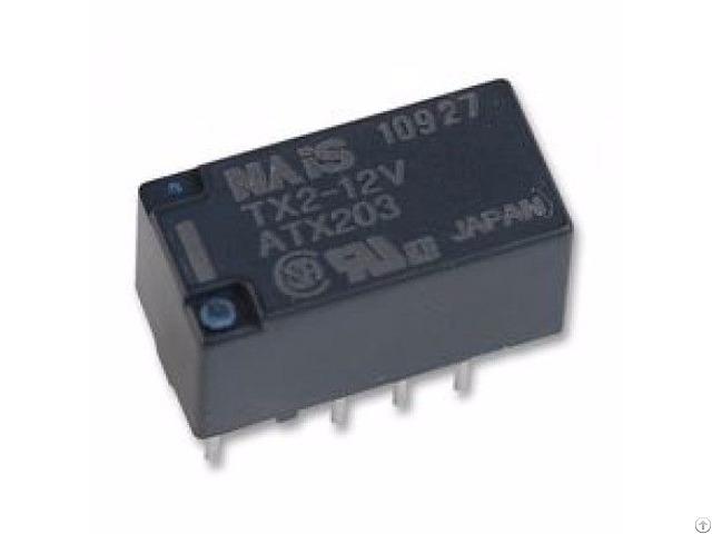 2a 12vdc Dpdt Non Latching Pcb Signal Relays Tx2 12v