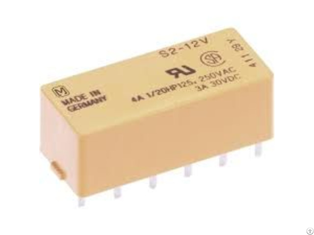 Non Latching S Series Power Relay S2 12vdc