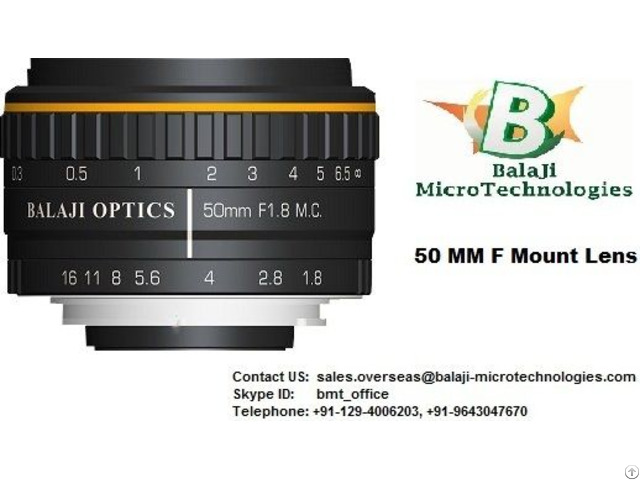 F Mount Machine Vision Lenses
