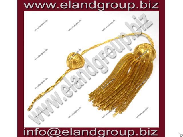 Deluxe Doctoral Tam Gold Bullion Tassels