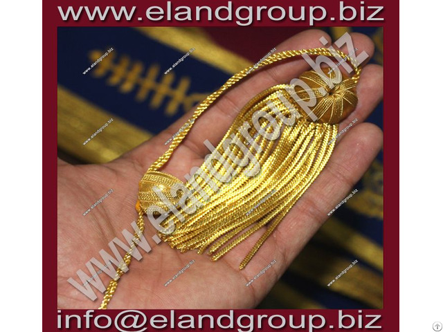 Doctoral Graduation Tam With Gold Bullion Tassel