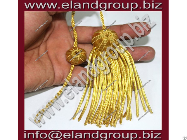 Doctoral Tam Black Velvet Gold Bullion Tassel