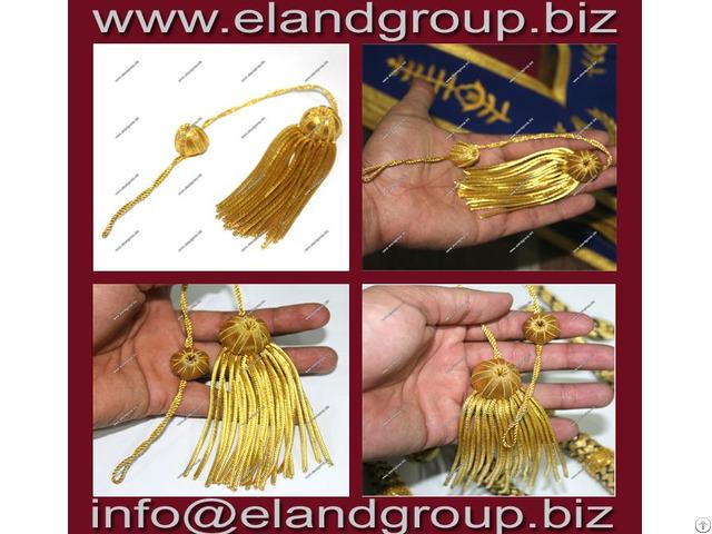 Graduation Tam With Gold Bullion Wire Tassel