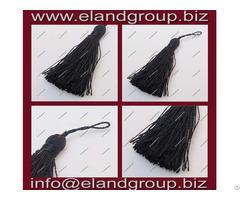 Black Silk Key Tassel