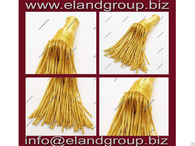 Gold Bullion Wire Tassels