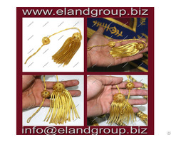 Graduation Tam With Gold Bullion Tassel