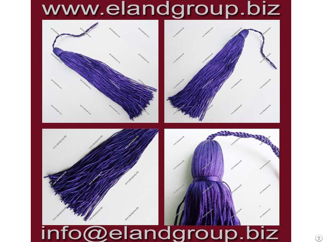Purple Graduation Cap Tassels