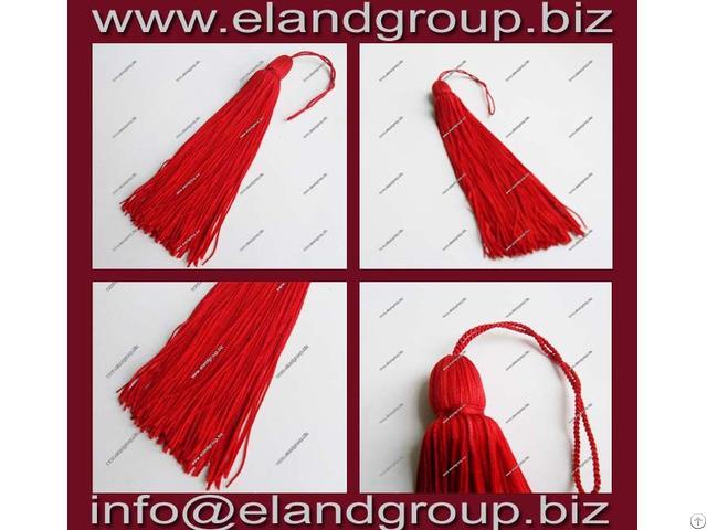 Red Graduation Cap Tassels
