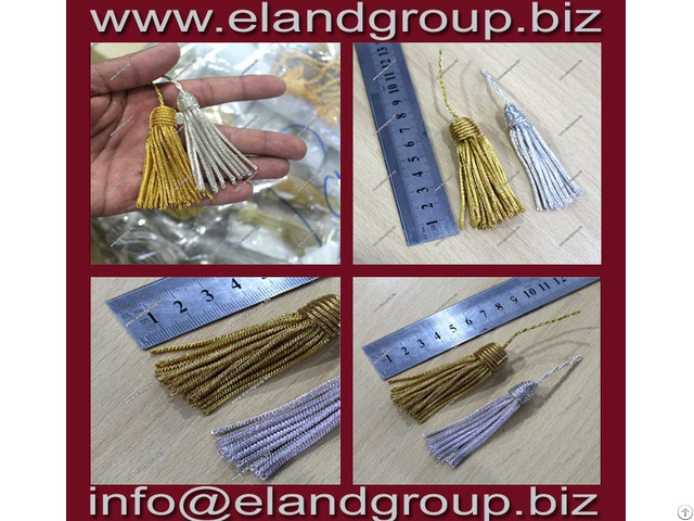 Royal Pellow Gold Silver Bullion Tassel