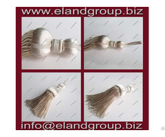 Silver And Bullion Wire Tassels