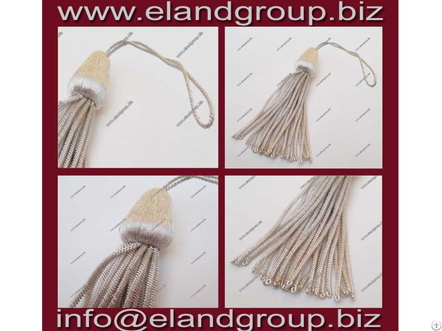 Silver Graduation Bullion Tassel