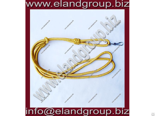 Military Band Gold Lanyard
