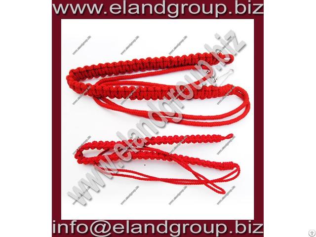 Military Red Braided Lanyard