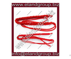 Military Red Braided Lanyard