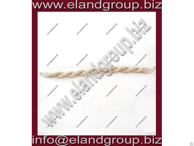 Cap Cords Round Silver