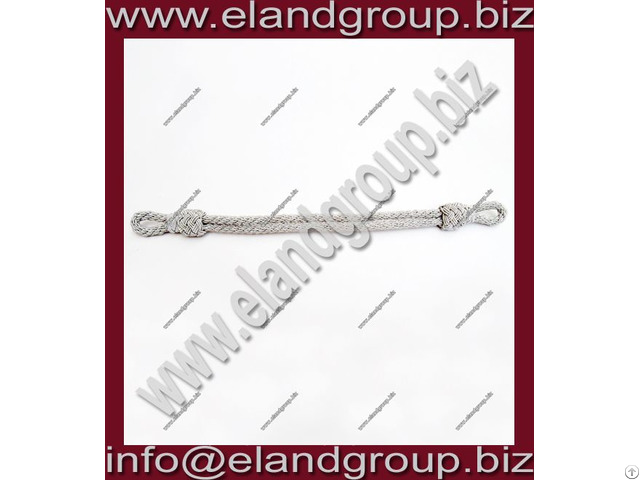 Military Silver Cap Cord