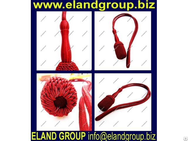 Burgundy Silk Officer Sword Knot