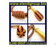 Gold And Burgundy Sword Knot