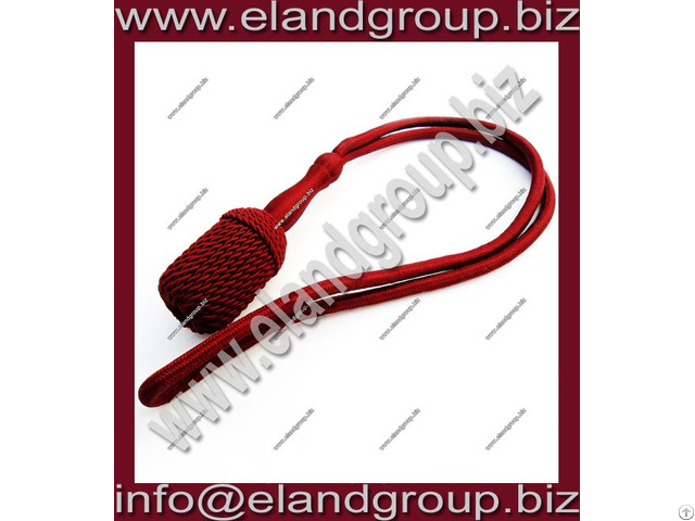 Burgundy Silk Sword Knot