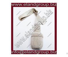 German Silver Bullion Wire Sword Knot