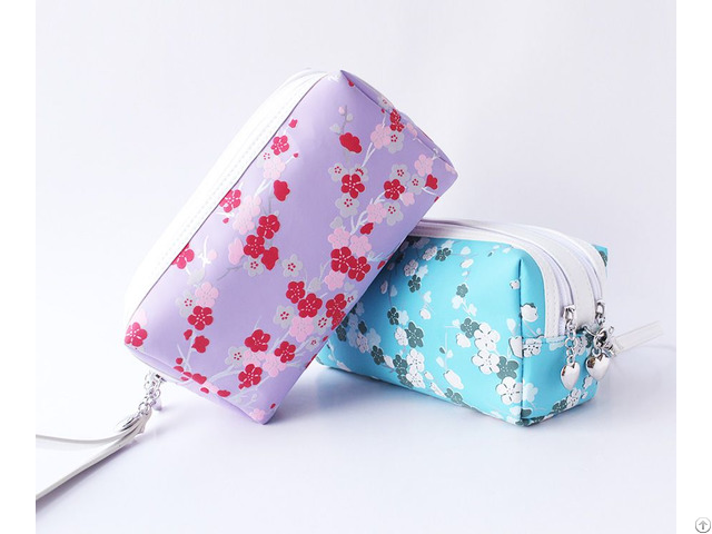 Upmarket Double Layer Rectangle Cosmetic Bag