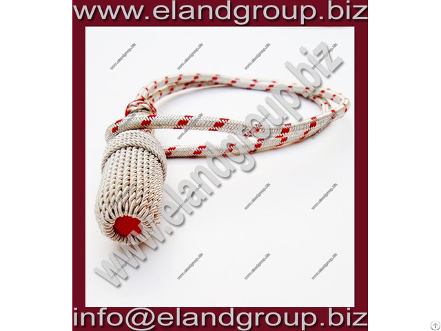 Silver And Red Sword Knot