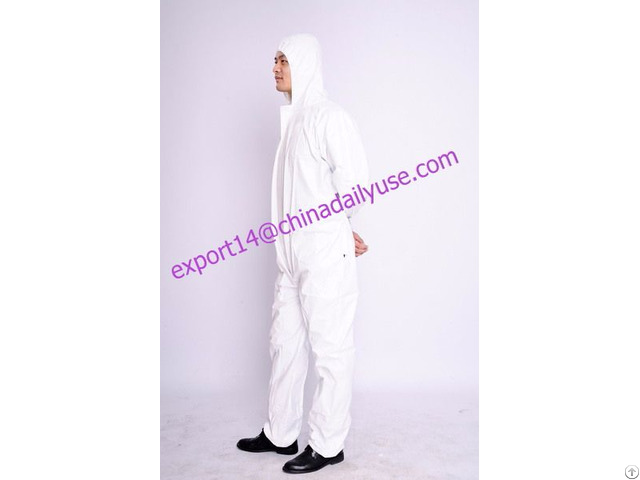 Waterproof Insulated Coveralls Polypropylene Disposable Coverall