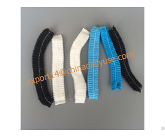 Disposable White And Blue Stripe Mob Mop Caps Hairnets