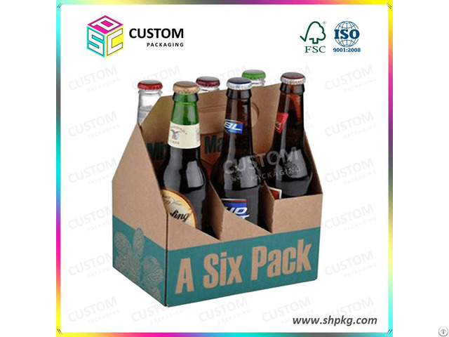 Six Pack Beer Carrier Box Carton