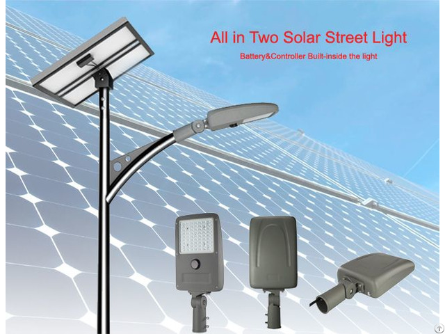 15w 1800lm Solar Street Light With Internal Batttery And Controller