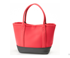 New Fashion Handbags Neoprene Tote Bags Contrast Color