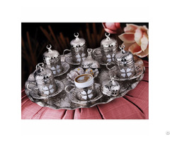 Clover Patterned Coffee Set 27 Piece