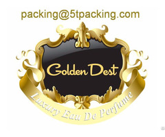 Golden Dest Gold Embossed Cosmetic Bottle Labels In Luxury Eau De Perfume